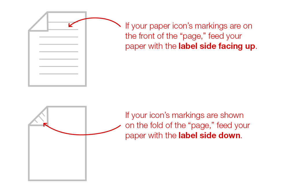 medium resolution of how to put label paper in printer