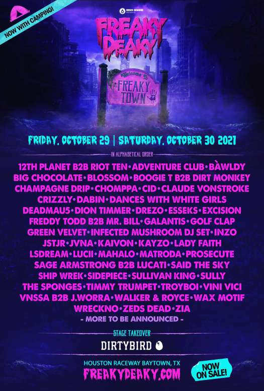 Freaky Deaky returns—SIDEPIECE, Excision, Galantis, deadmau5 and more to play 2021 eventBabc04f0 Freaky Deaky 2021