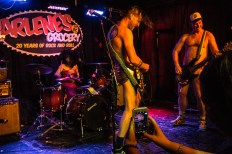 Statues of Liberty at Arlene's Grocery