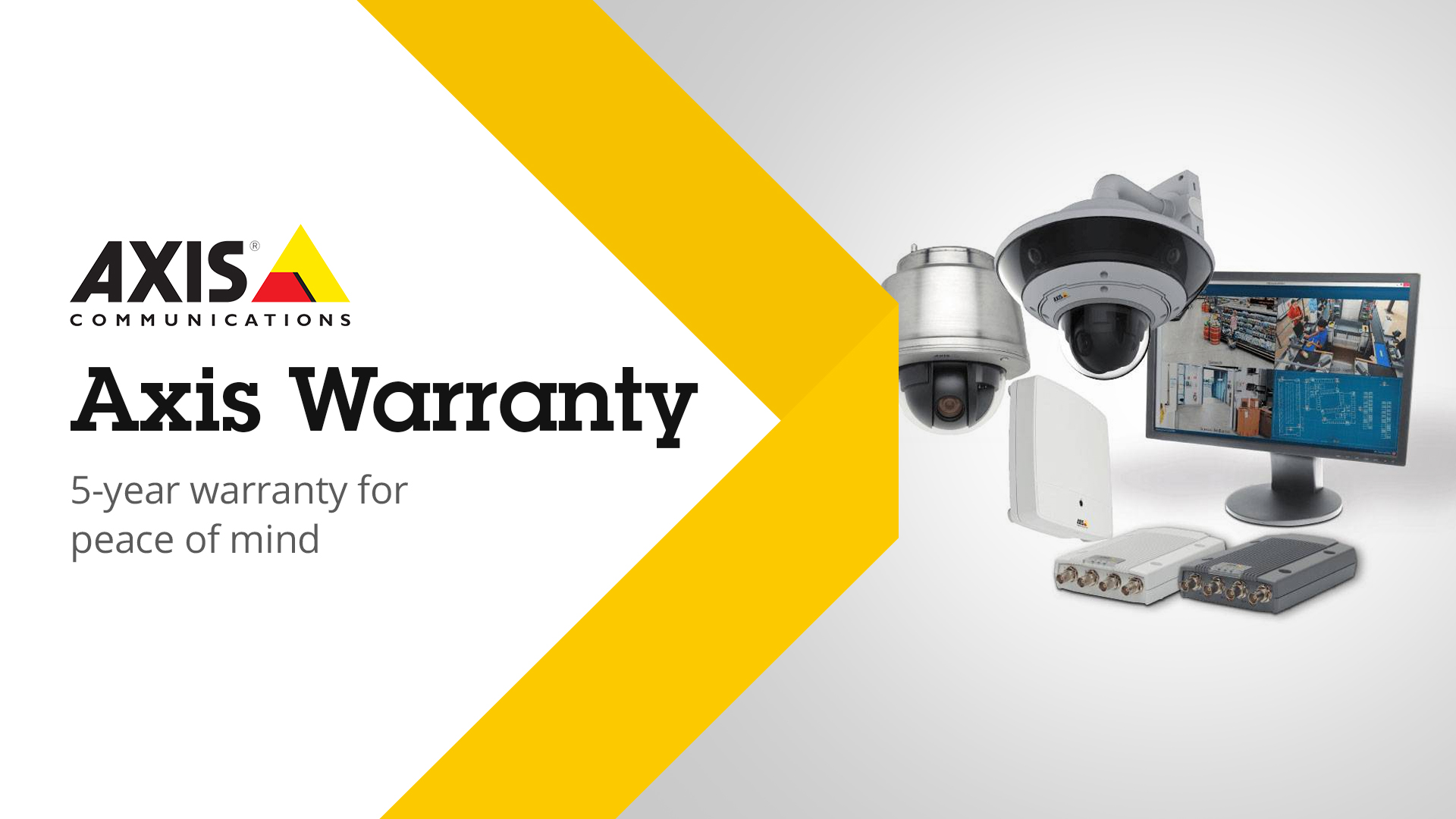 Axis Communications Increases Product Warranty to 5 Years