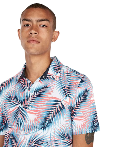 Signature Moisture-Wicking Tropical Palm Printed Polo