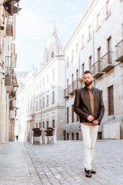 Michael Checkers street style outfit in Spain