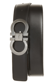 Reversible Leather Belt SALVATORE FERRAGAMO black