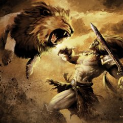 Hercules against the lion by alejandrorojas