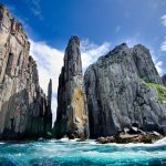 The Candlestick and the Totem Pole, famous rock spires of Cape Huay
