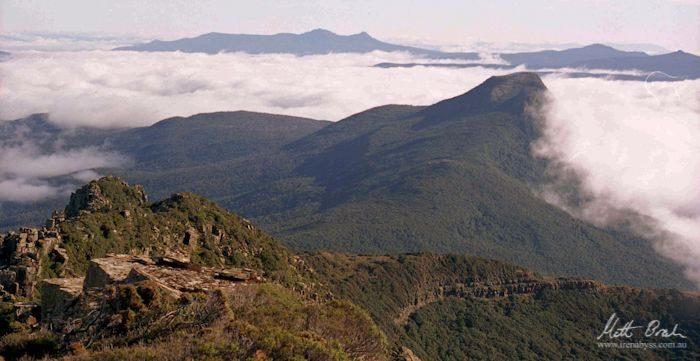 Mt. Bisdee and distant Hartz Mountains. Photo by Matthew Brain
