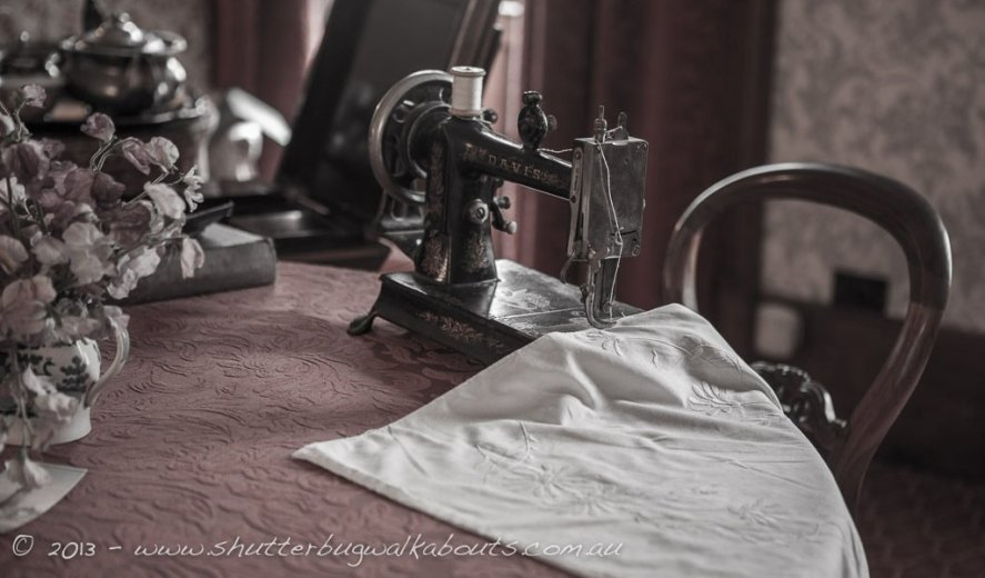 Sewing machine-Commandants house-Port Arthur-- courtesy of Shutterbug Walkabouts