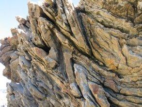 Chevron folds Picnic Point, at Ulverstone