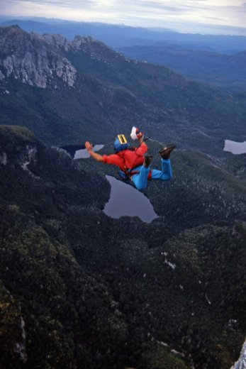 BASE Jump Frenchmans 10_George_April1989 by Chris Sharples