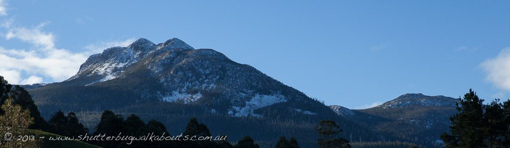 Snow covered moutain-Sleeping Lady-Mountain River- by Shutterbug Walkabouts