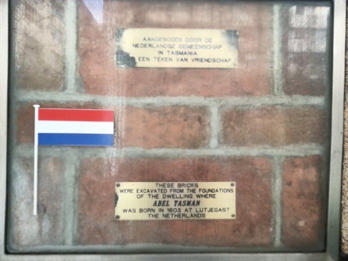 InternationalWallOfFriendship-Netherlands and brick from birthplace of Abel Tasman