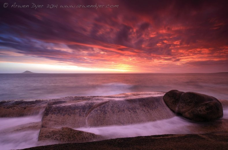 Storm at Sunset Trousers Point - by Arwen Dyer