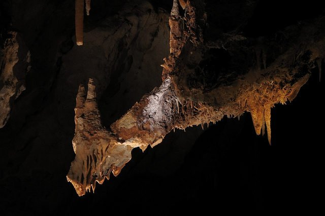 The Dragon formation within Cliefden Caves - by Kevin Moore