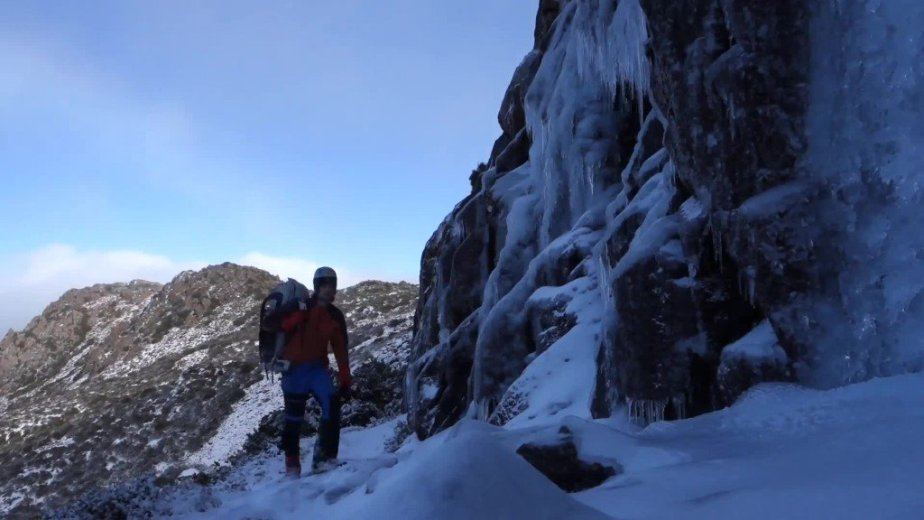 Ice Climbing Tasmania - by Wild Oates Productions with Kim Ladiges - 029