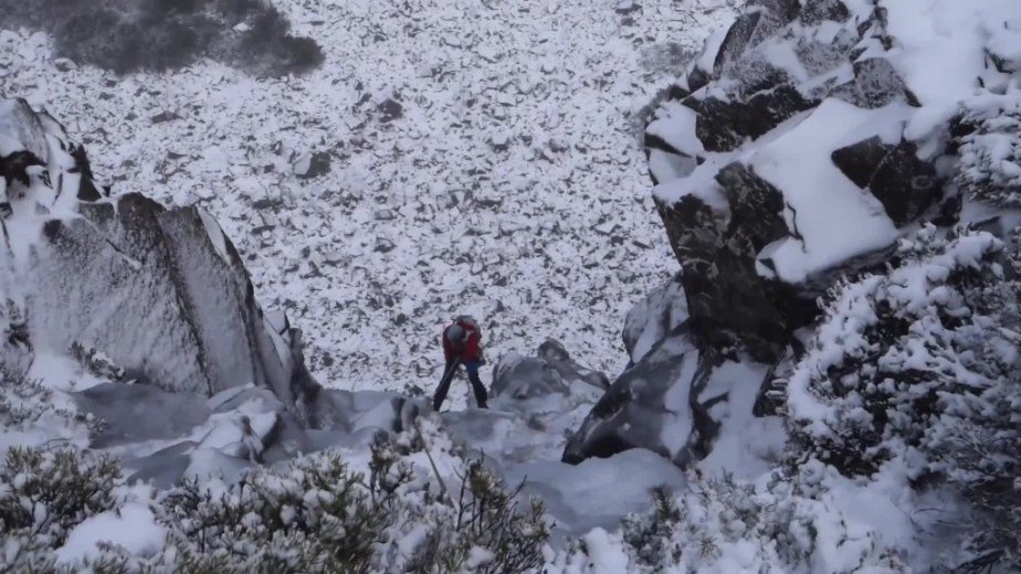 Ice Climbing Tasmania - by Wild Oates Productions with Kim Ladiges - 043