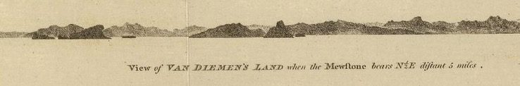 Chart of Van Diemens Land -  by William Bligh, with Cook, 1785  - courtesy David Rumsey Map Collection - 011