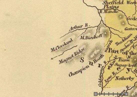 Detail from Van Diemens Land 1834 by J Arrowsmith - courtesy David Rumsey Map Collection - 011