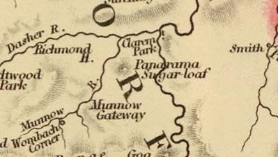 Detail from Van Diemens Land 1834 by J Arrowsmith - courtesy David Rumsey Map Collection - 026