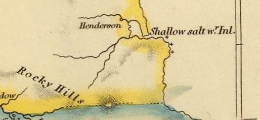 Detail from Van Diemens Land 1834 by J Arrowsmith - courtesy David Rumsey Map Collection - 029
