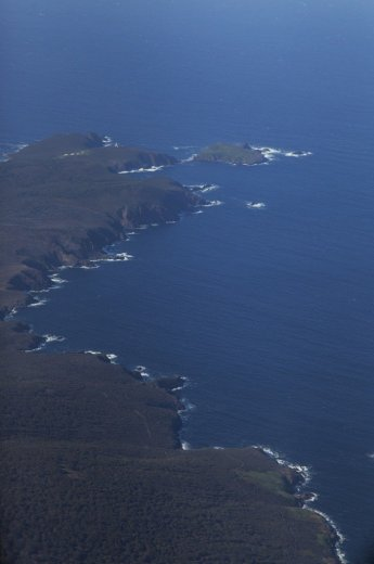 Flying Into The South Coast Track - Coastline towards Melaleuca - by Geraldina Dijkstra
