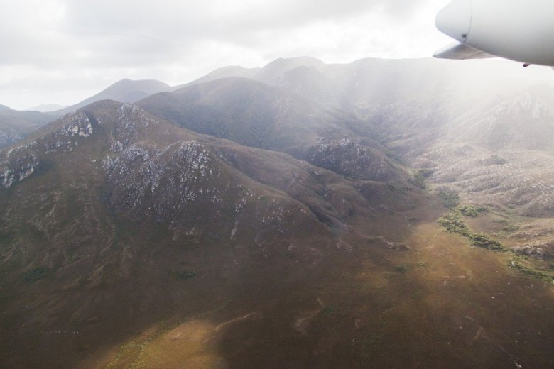 Flying Into The South Coast Track - Just before Melaleuca airstrip - by Geraldina Dijkstra