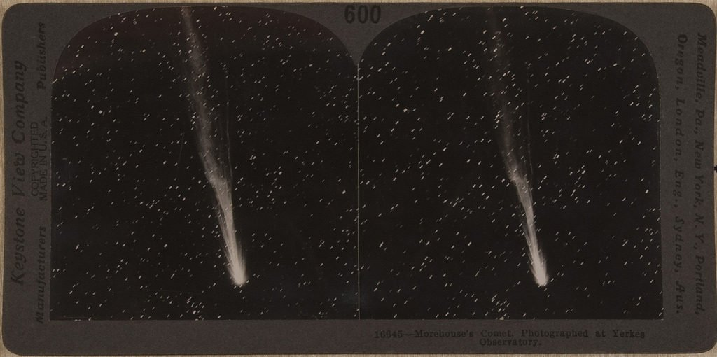 Morehouses Comet, Photographed at Yerkes Observatory, 1908 – - via Public Domain Review