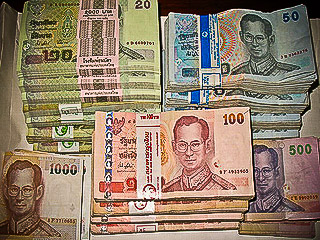 bath thailand bank notes