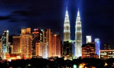 KL skyline night