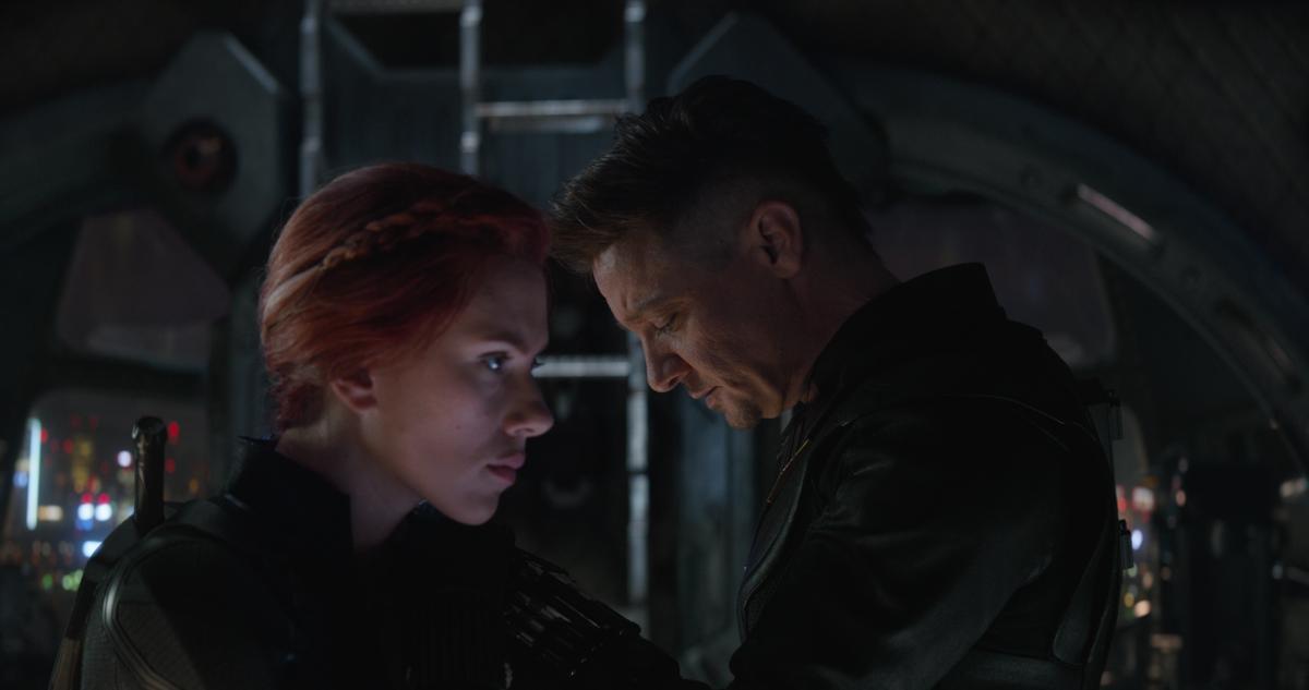 natasha romanoff and clint barton in avengers: endgame