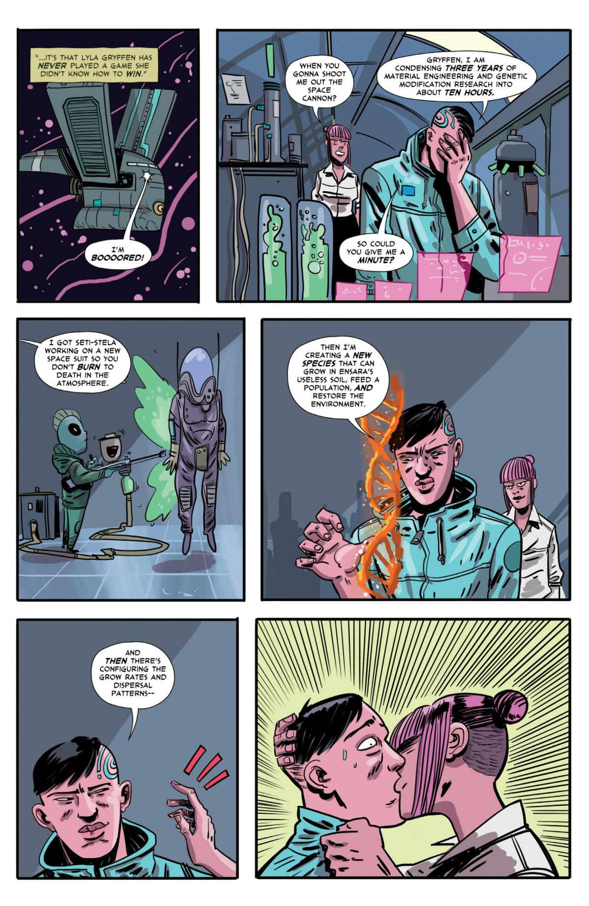 Gryffen: Galaxy's Most Wanted #5 Page 2.