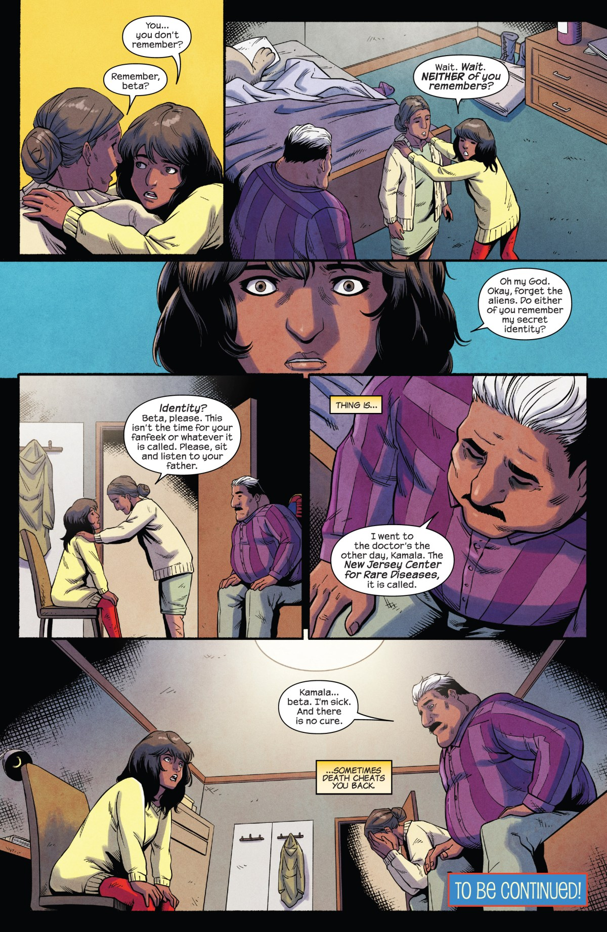 Kamala is shocked to discover that her parents' memories have been erased and her father is sick.