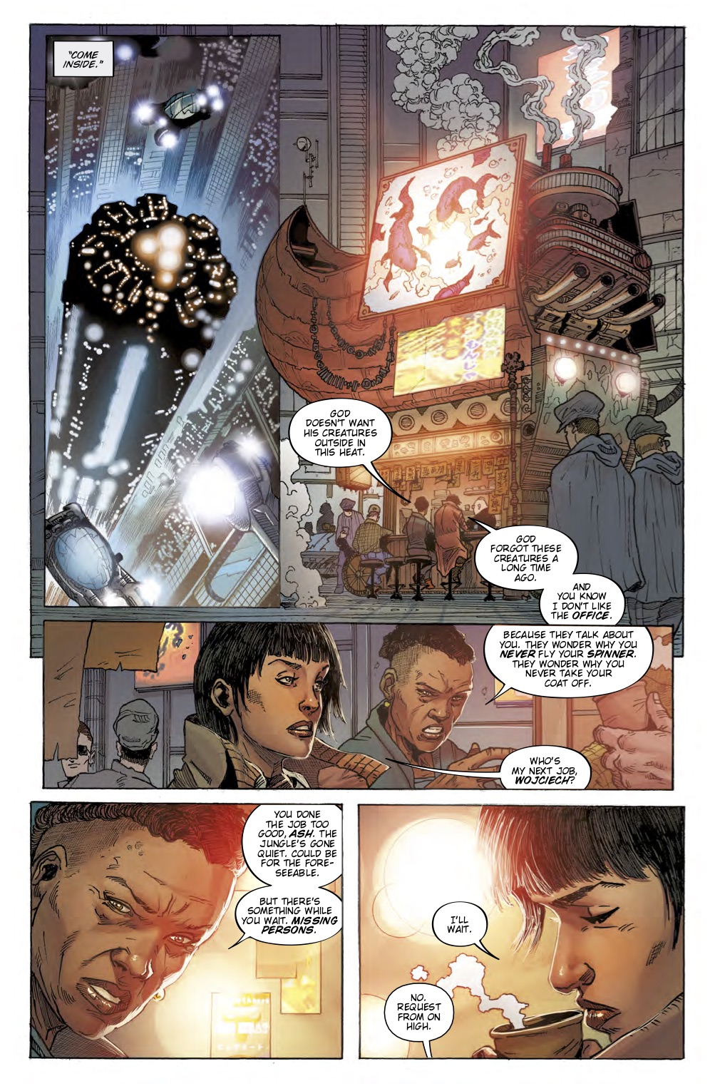 Ash talks to her boss Wojciech In Blade Runner 2019 #1.