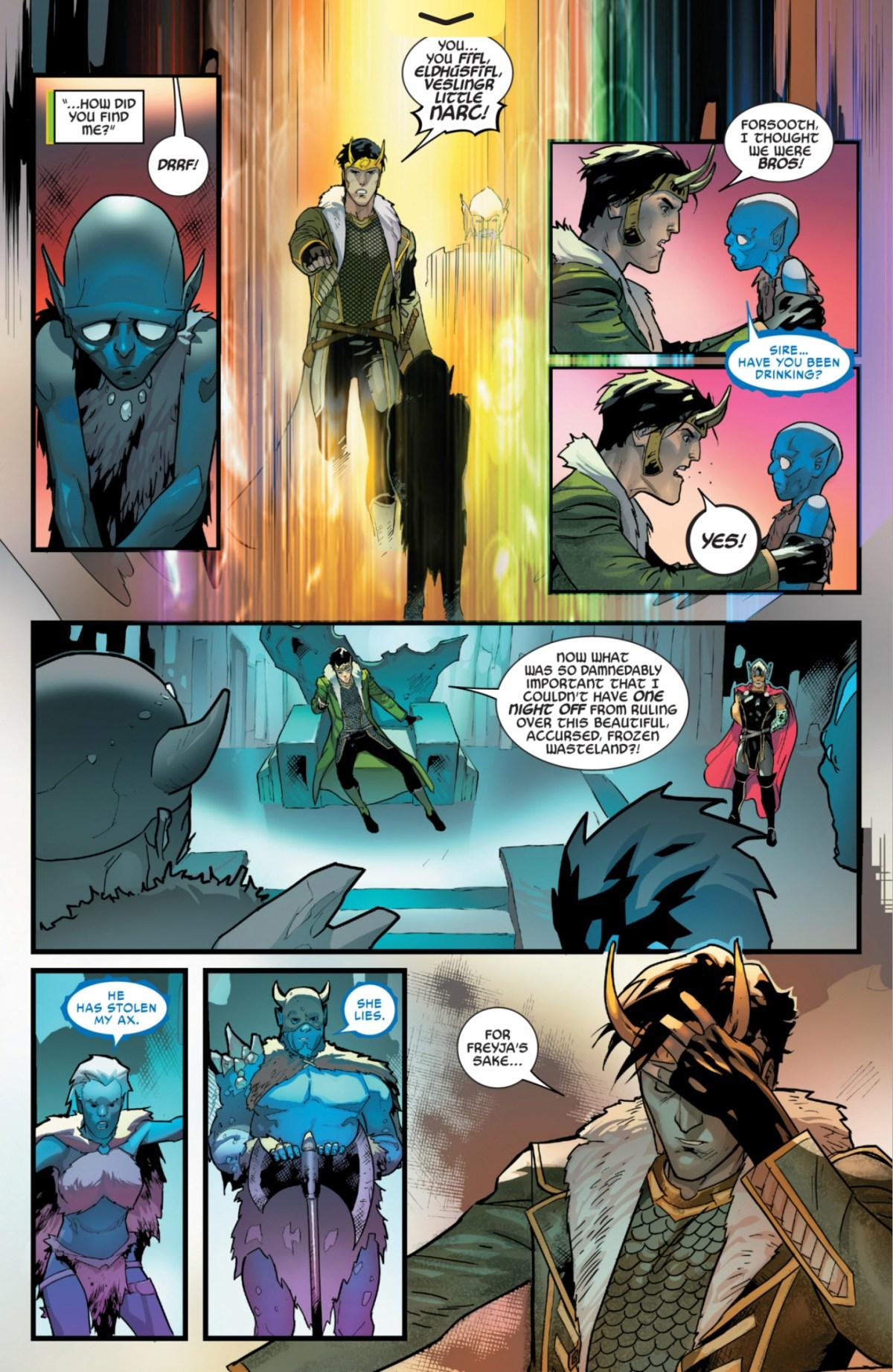 Loki #1: Page 15, Loki On The Throne