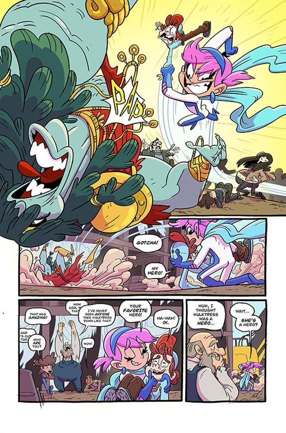 Gamma in Page 4 of Pretty Violent #1.