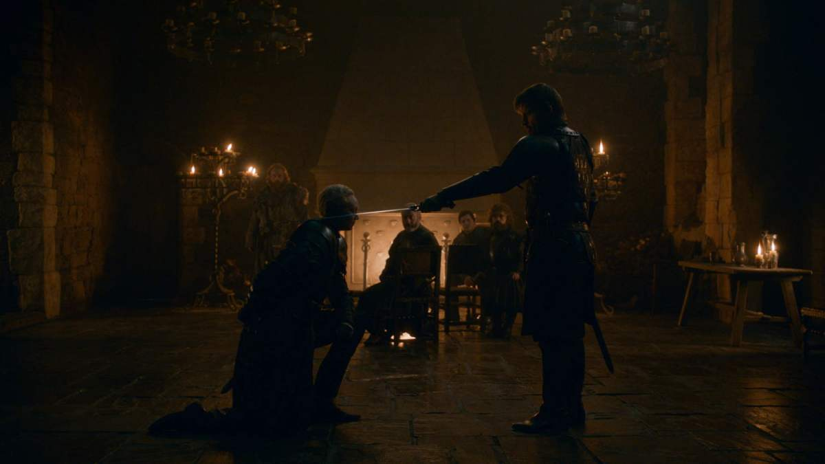 Ser Jaime Lannister makes Ser Brienne of Tarth official, finally in the best moment of Game of Thrones season 8.