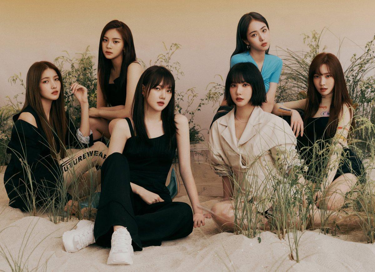 "Concept photo and album cover of Gfriend's new release, ""Fever Season."""