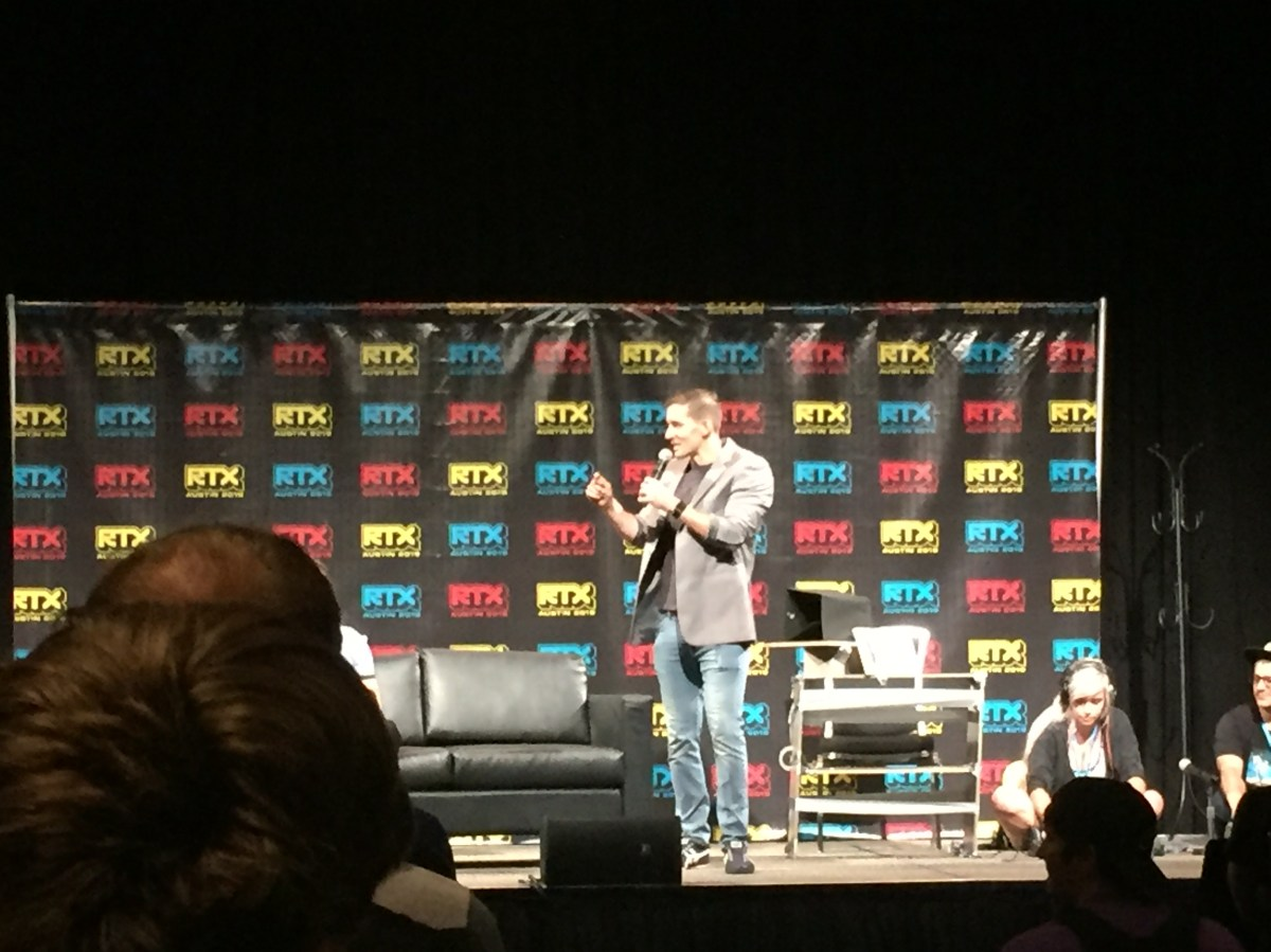 James Willems presents at RTX 2019.