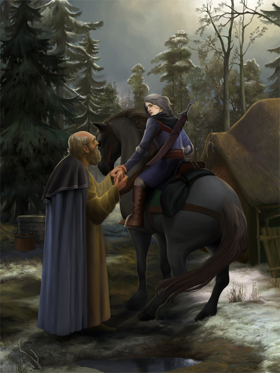 Vysogota of Corvo says goodbye to Ciri