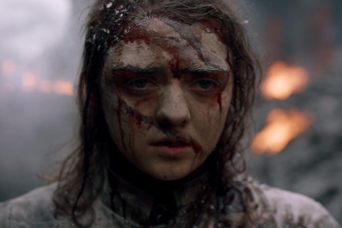 Arya Stark in the ruins of King's Landing after Daenerys Targaryen's wave of destruction