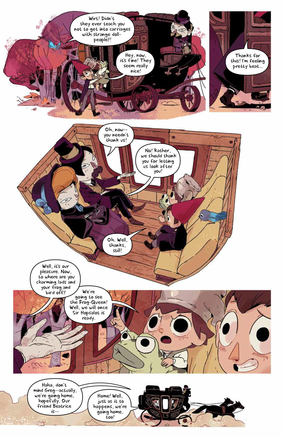 Page 17, Wirt, Greg, Beatrice, and dolls in horse and buggy.