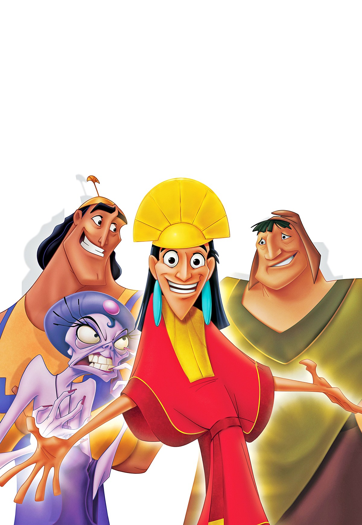 The Emperor's New Groove Disney movie poster with Yzma, Kronk and Pacha.