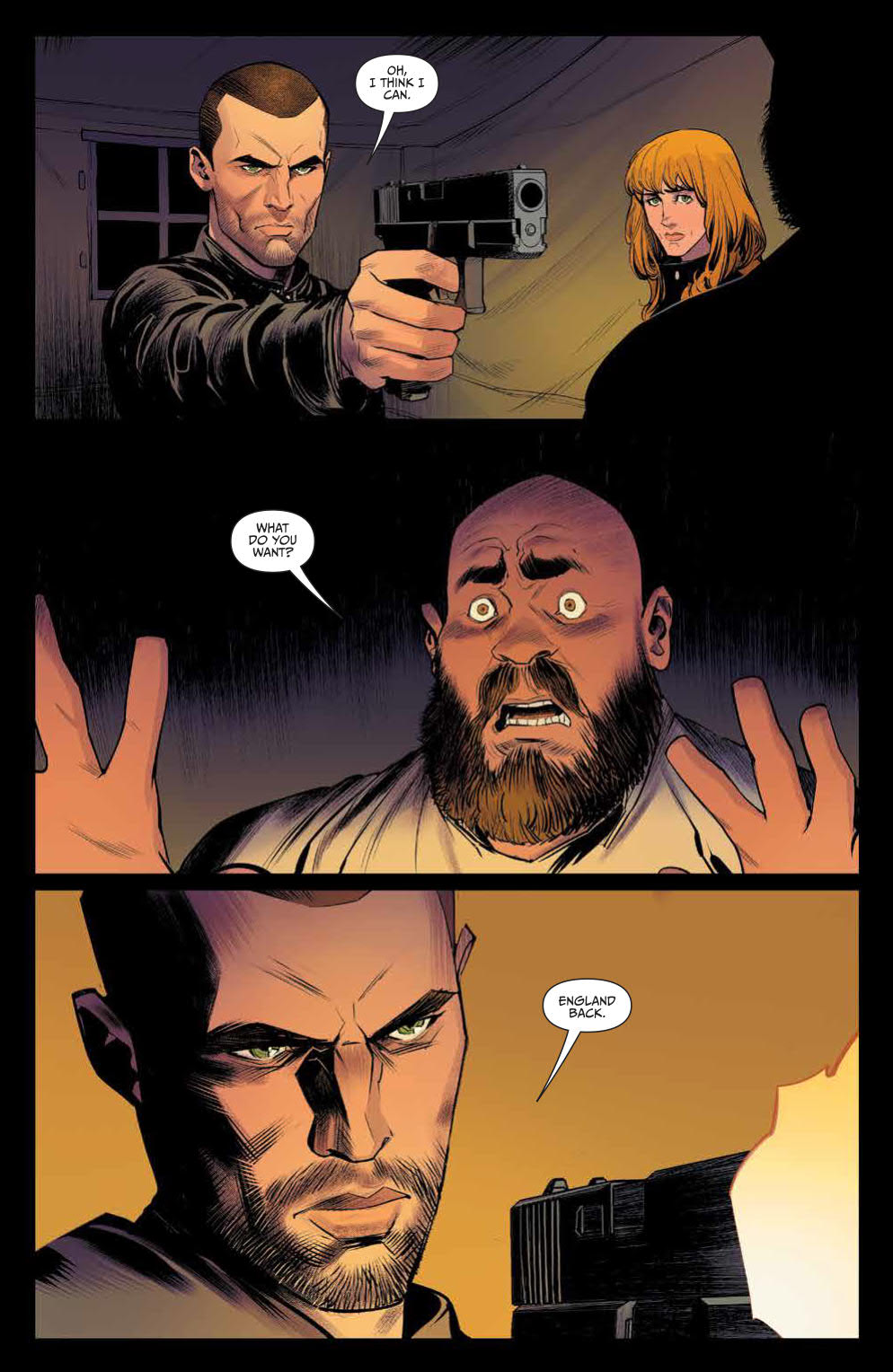 Once And Future #1: Page 6, The Bad Guys Commit a Murder.