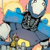Mech Cadet Yu flying with Buddy in volume 1.