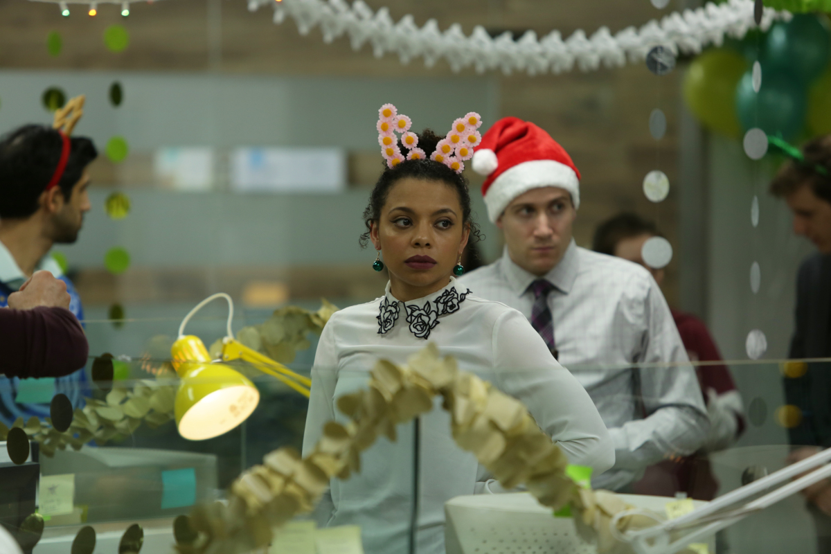 The episode SQUIRM at the Christmas party.