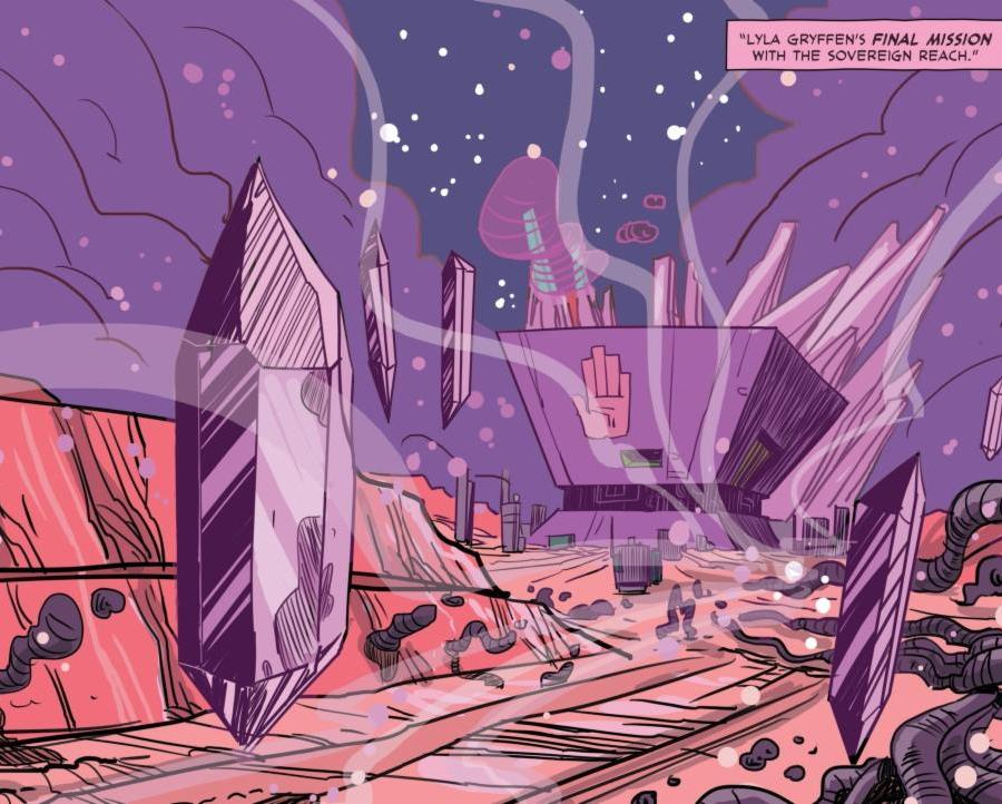 A panel from Gryffen: Galaxy's Most Wanted #6.