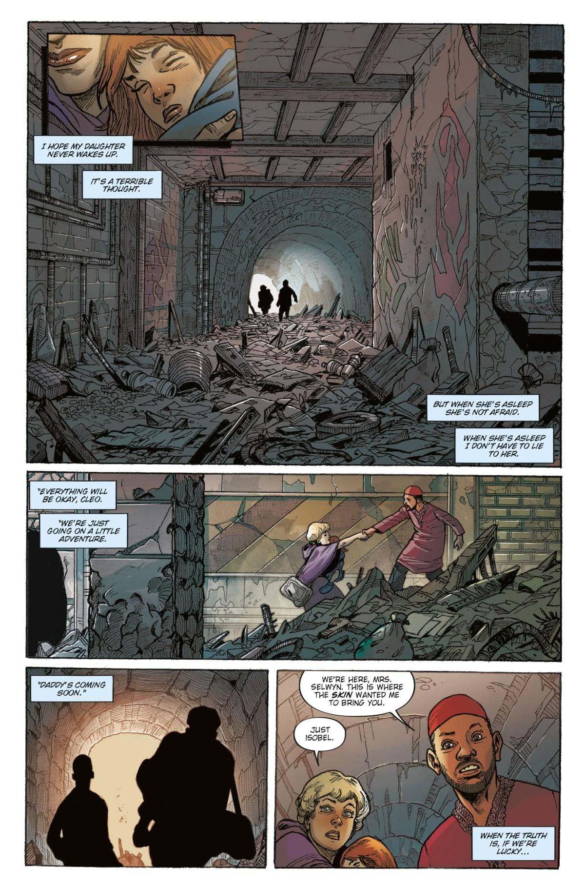 Isobel and Cleo flee underground.