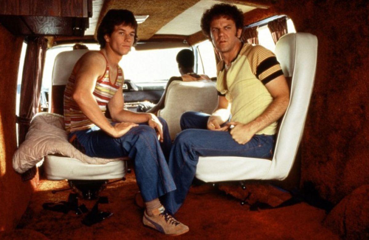 Boogie Nights, the rollerblading/roller skating film, Dirk Diggler as Mark Wahlberg.