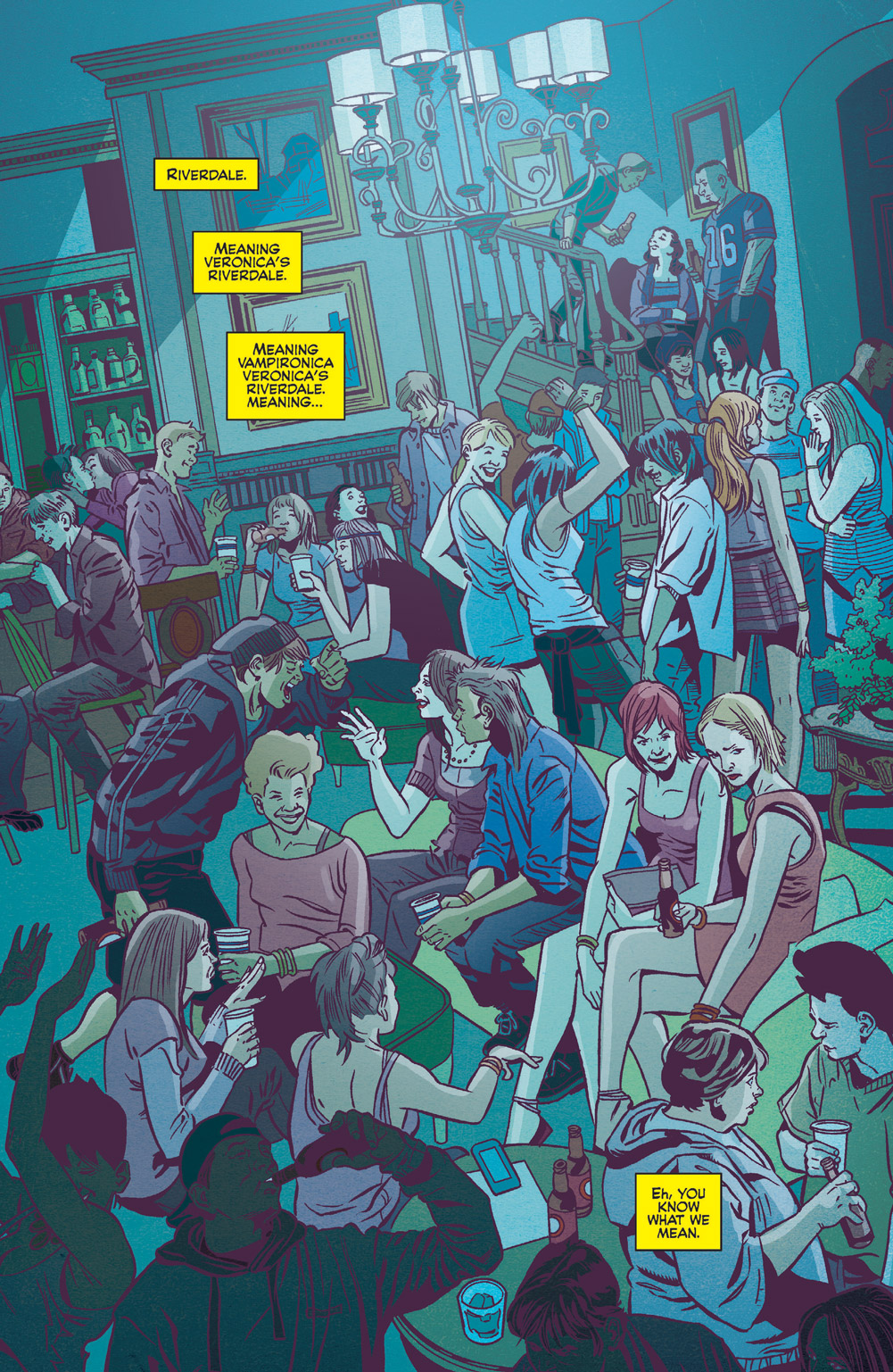 Jinx's party with all her friends in Jughead: the Hunger vs. Vampironica #3.