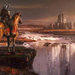 Geralt heads toward a castle