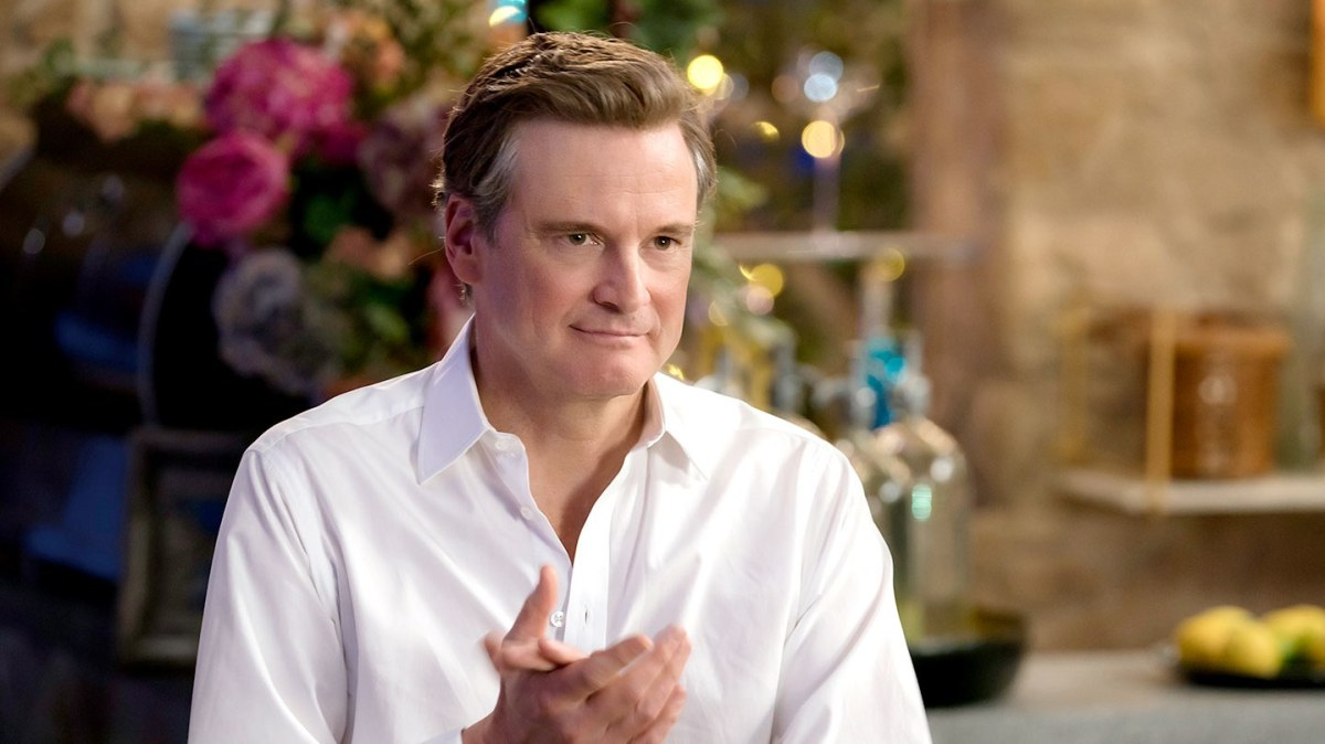 Colin Firth in the goofiest summer hit, Mamma Mia: Here We Go Again.